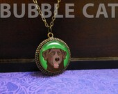 Chocolate Lab Necklace, L...