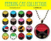 Black Cat Necklace, Peeki...