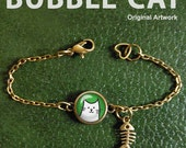 White Cat Bracelet or Ank...