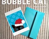 Santa Cat Christmas Card ...