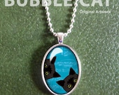 Two Black Cats Necklace, ...