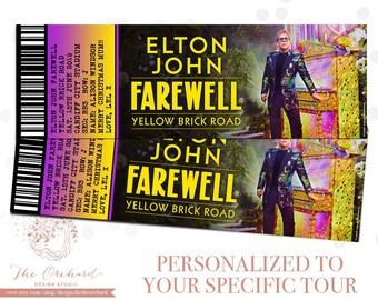 Elton John Yellow Brick Road Farewell Tour FAKE Concert Tickets