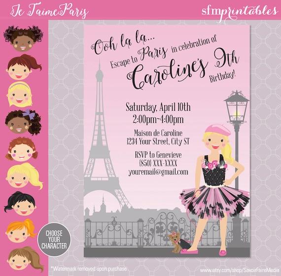 Paris themed party invitation birthday parisian themed ooh etsy image 0 filmwisefo