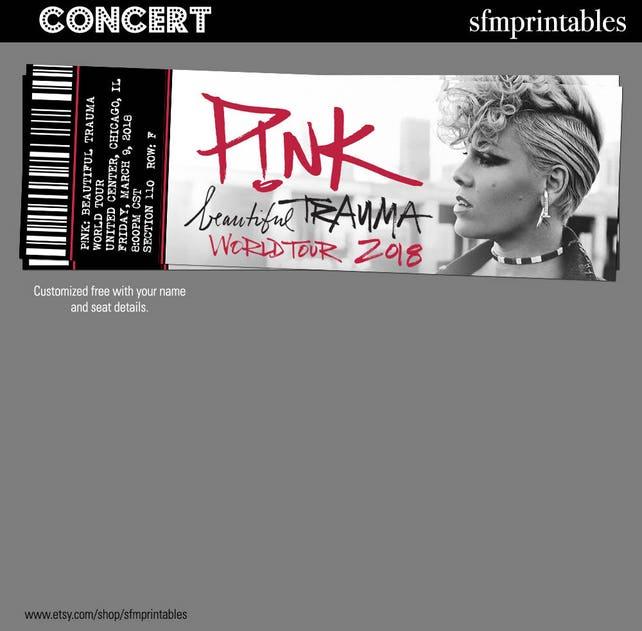 Rosa schöne Trauma Tour Konzert Tickets Geschenk Custom | Etsy