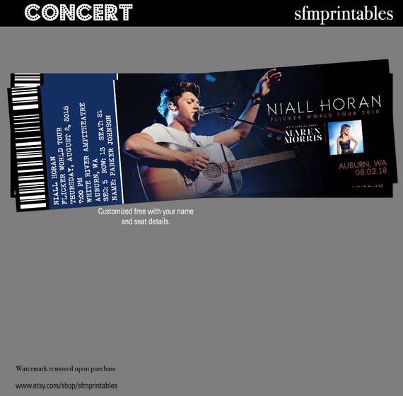 Niall Horan Flimmern World Tour Geschenk benutzerdefinierte | Etsy