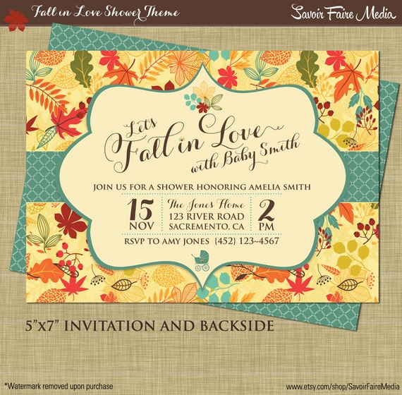 Fall baby shower invitation autumn shower party printables boy il570xn filmwisefo