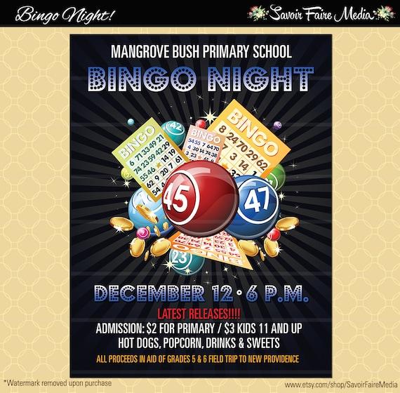 Bingo-Flyer / Bingo Nacht Poster / Vorlage Kirche Schule | Etsy