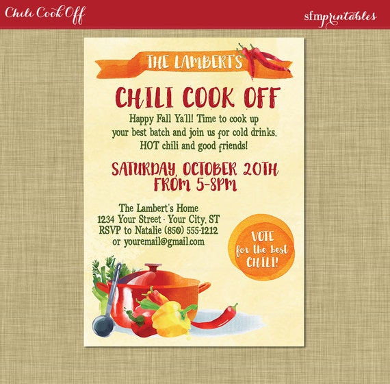 Instant Download Chili Cookoff Voting Ballot Printable Diy Etsy