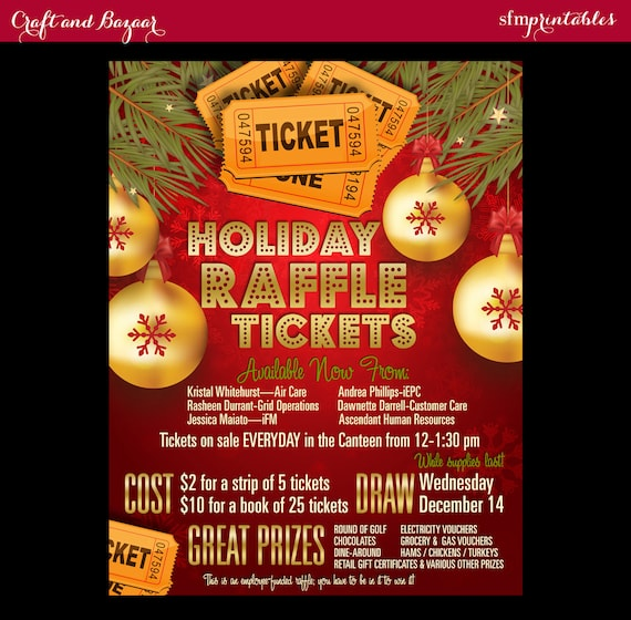 Christmas Contest Flyer.Christmas Raffle Tickets 50 50 Flyer Holiday Seasonal Raffle Event Invitation Poster Contest Drawing Poster Gift Template