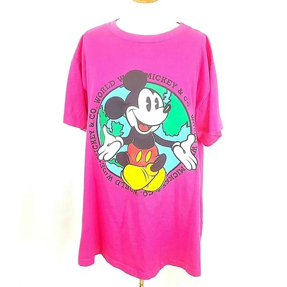 1990 DISNEYLAND IOUG Mickey Mouse Distressed Single Stitch Vintage T Shirt  Size XLarge