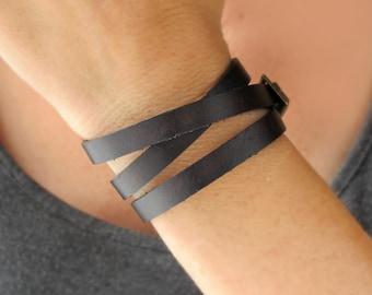 Leather Wrap Bracelets-Womens Leather Bracelet-Leather Jewelry-Leather Bracelets for Women-Leather Bracelet Woman-Gift for Women-Wrap Around