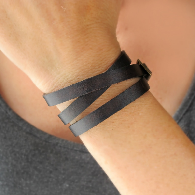 Leather Wrap Bracelets for Women-Women's Leather image 0