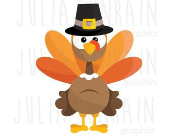 Thanksgiving Turkey Clipart Set - Instant Download - Personal and Commercial Use - Autumn - Thanksgiving
