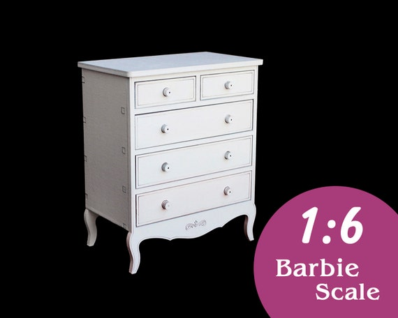 FR 12 in doll BJD Doll chest of drawers american glamour style miniature commode Blythe 1:6 furniture for Barbie