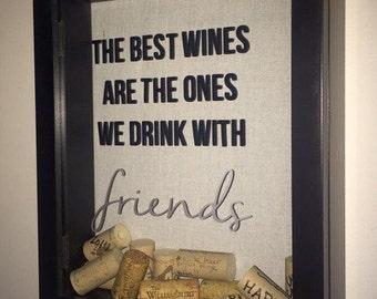 Custom Wine Cork Memory Keeper