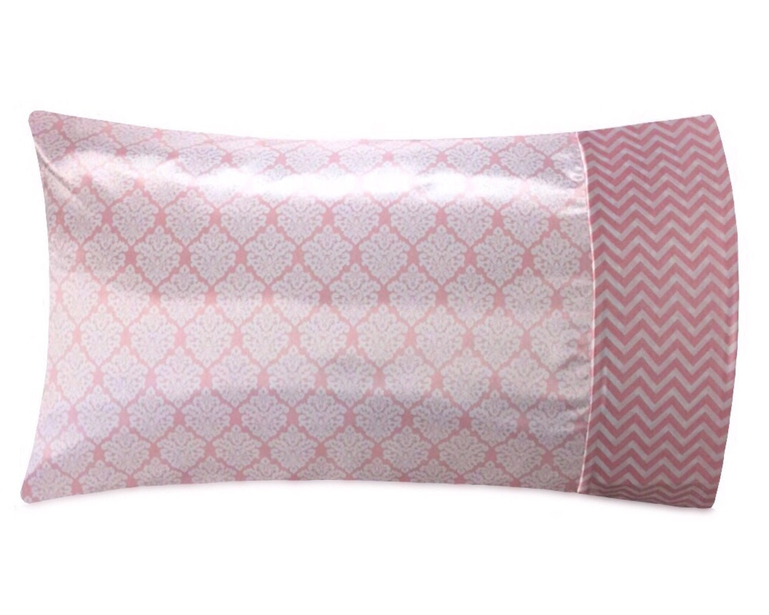 Blush Damask Satin Pillowcase Blush Satin Pillow Case