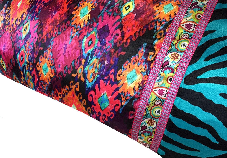 Bright Amp Colorful Jewel Tone Pillowcase Satin Pillowcase