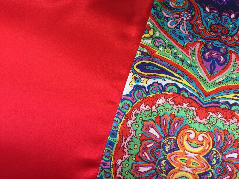 Red Bohemian Satin Pillowcase Red Satin Pillow Case
