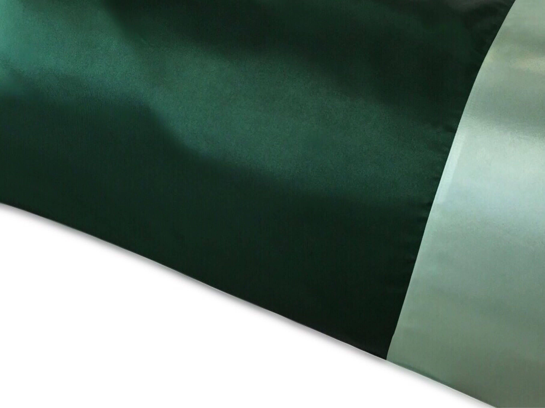 Hunter Green Satin Pillowcase Two Tone Green Satin Pillow