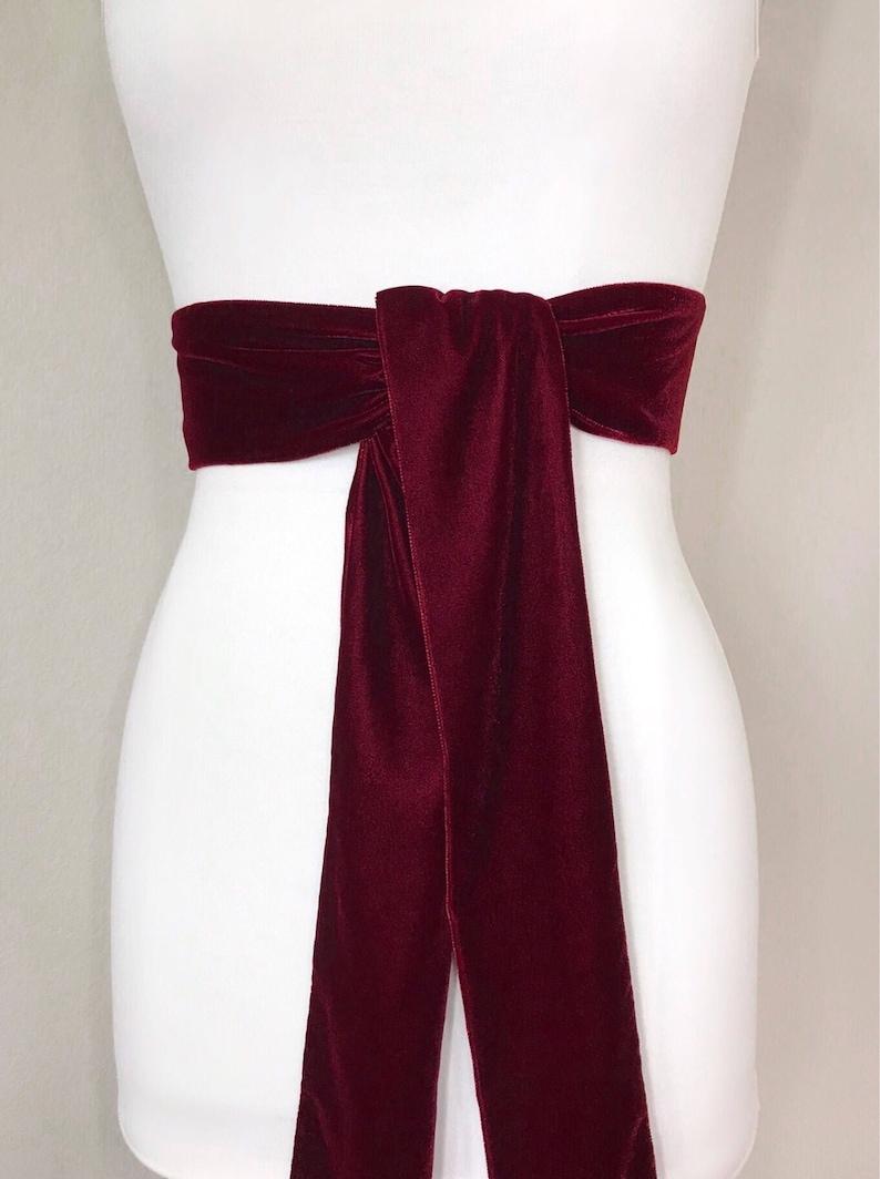 Wine Double Faced Satin Ribbon Sash Bridal Wedding Bridesmaid Brand New
