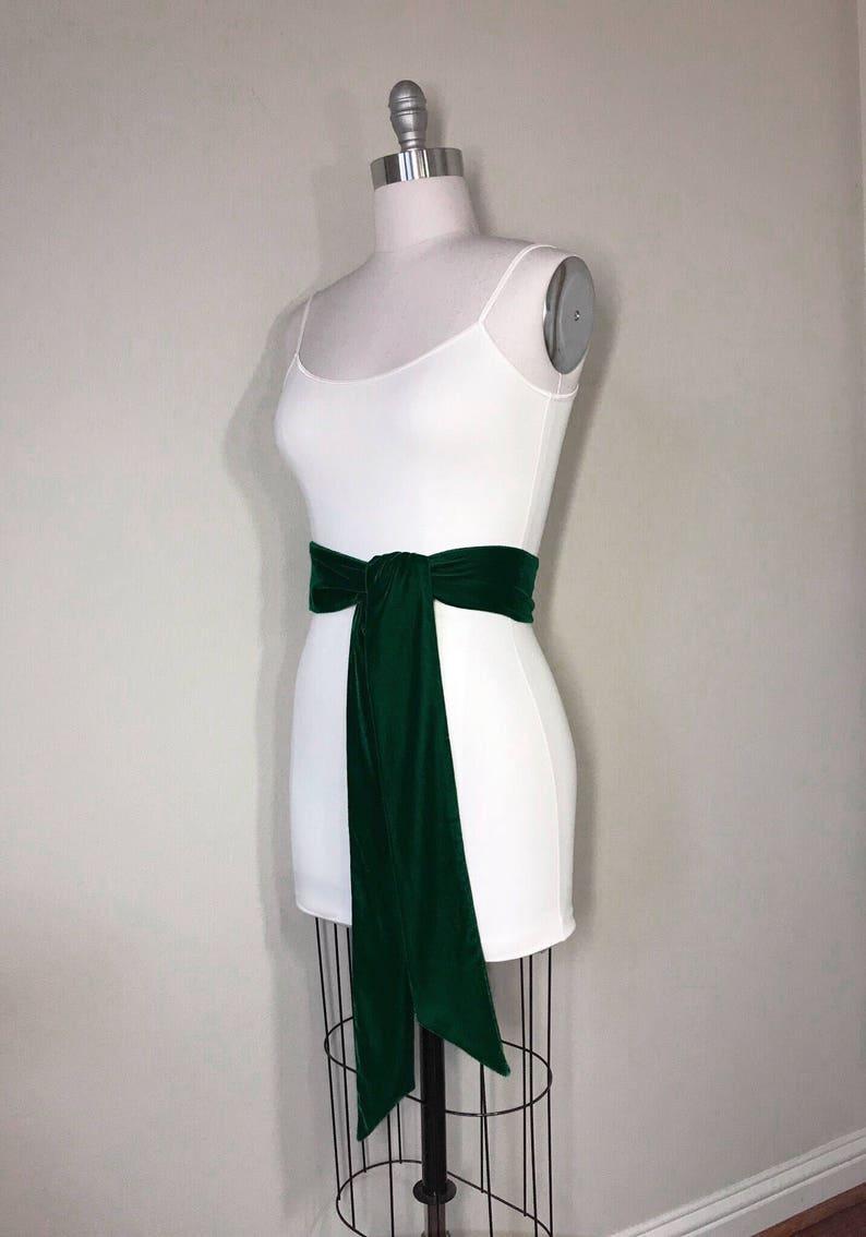 788b9d6b1c3d1 Emerald Green Velvet Sash Green Sash In Plush Velvet Emerald | Etsy