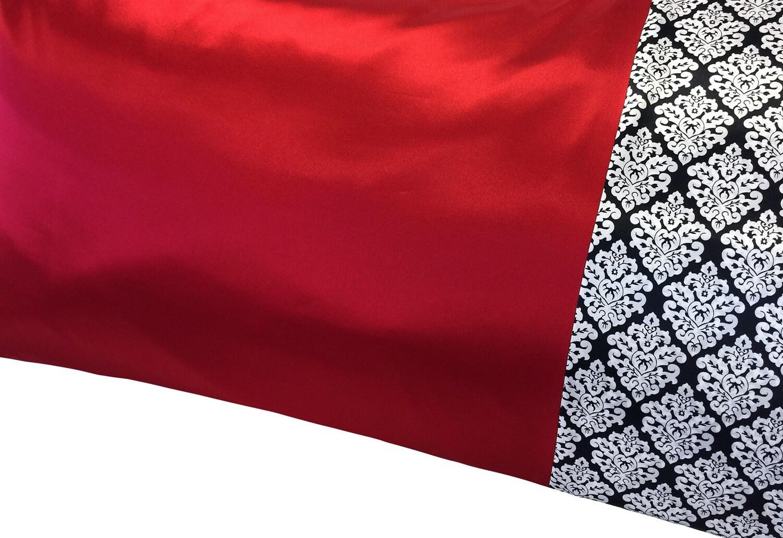 Crimson Red Satin Pillowcase Deep Red Satin Pillow Case