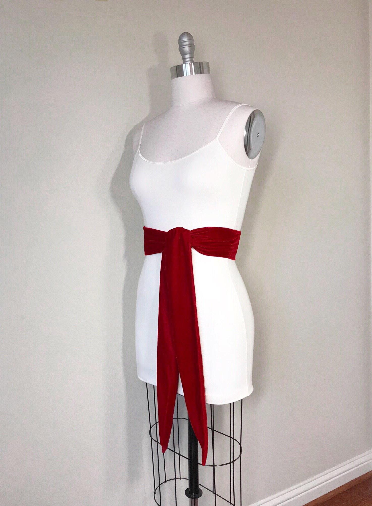 b8948ffc4a Crimson Red Velvet Sash