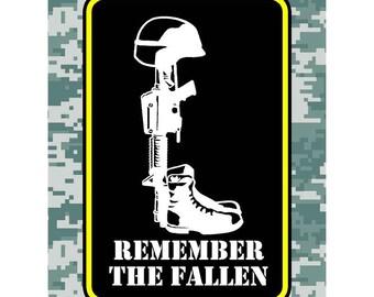 Remember The Fallen Car Decal