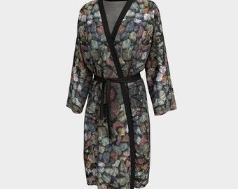 Altered Stones Peignoir, Robe, Long Robe
