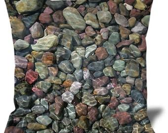 """Stones 22""""x22"""" Velveteen Pillow Cover"""
