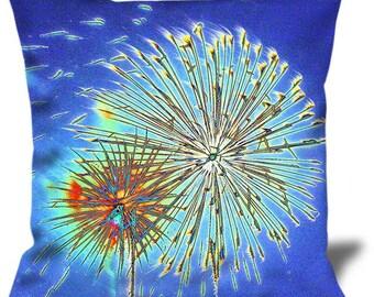 """050654 22""""x22"""" Velveteen Pillow Cover Fireworks"""