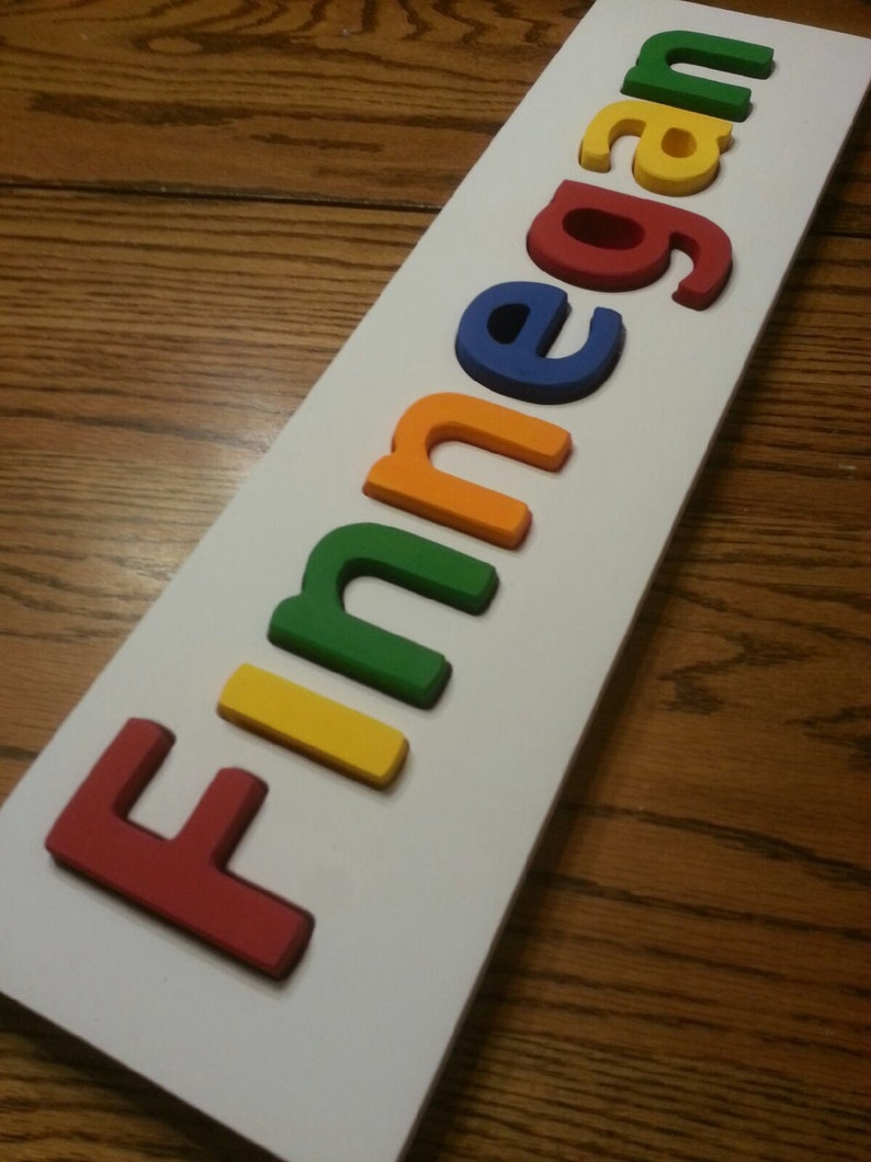 Wooden Name Puzzle Custom Name image 0