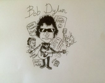 Hand drawn bespoke illustrations/caricatures, Made to order individual, group