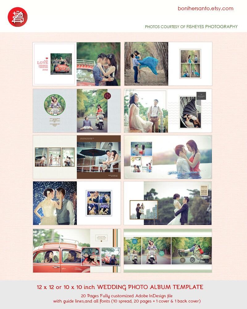20 diseño de plantillas de páginas boda foto álbum 12 x 12 | Etsy