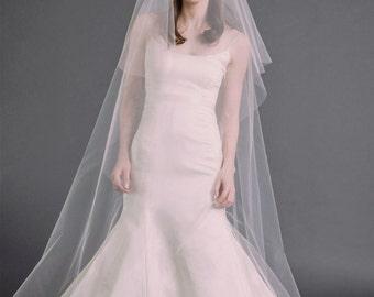 EVELYN VEIL | drop veil, bridal veil, wedding veil, long veil, circle veil, white, diamond white, ivory tulle