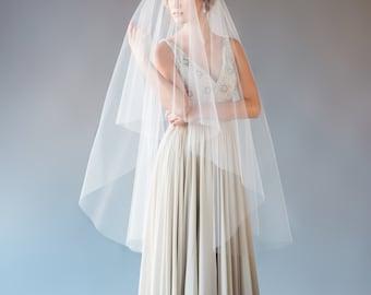 Waltz Length Drop Veil, Wedding Veil, Circle Veil, Ballet Length Veil, Fingertip Length Veil, Short Veil, Bridal Veil, STYLE: ELLENA