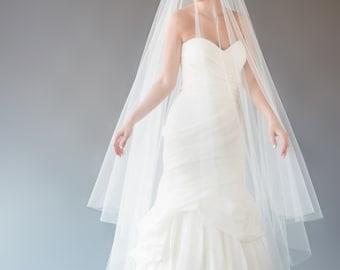 AUBREY VEIL | cathedral length wedding veil, drop veil, circle drop veil, bridal veil, tulle