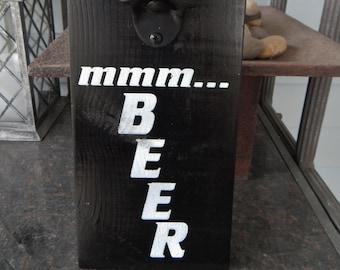 funny beer quote sign mmmbeer beer bottle opener man cave