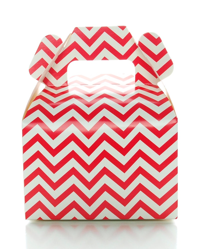 Red Candy Box Mini Chevron Wedding Gift Boxes 12 Pack Red Birthday Party Supplies Red Christmas Candy Boxes For Wedding Favors