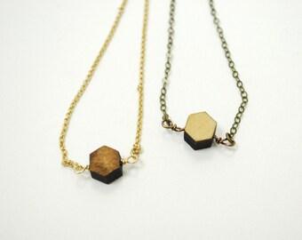 Simple Remnant - Wooden Laser Cut Necklace