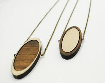 Ecliptic - Wooden Laser Cut Necklace