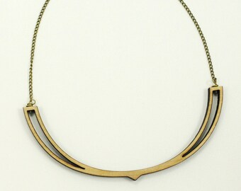 Wishbone - Wooden Laser Cut Necklace