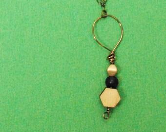 Embellished Remnant - Wooden Laser Cut Necklace
