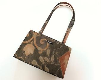 e5d5992fe37c Vintage 1990s Kate Spade Floral Voile Hard Case Shoulder Bag Purse Handbag
