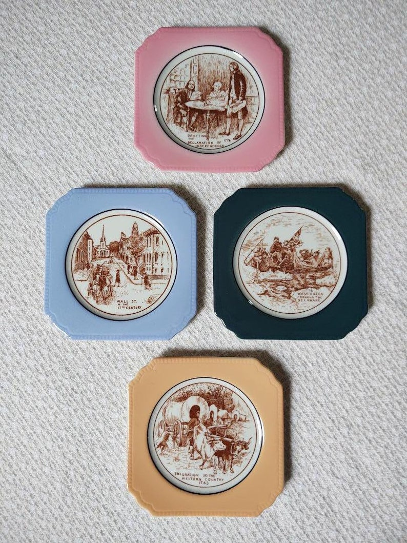 Vintage 60s syracuse china set of 4 coasters.