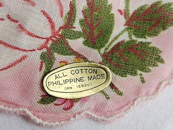 vintage set of 4 tulip print handkerchiefs - image 5