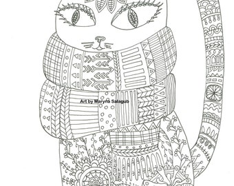 4000 Winter Cat Coloring Pages , Free HD Download