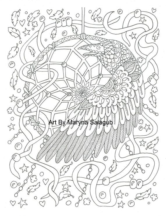 Soñar con colectores para colorear libro 25 páginas digitales | Etsy