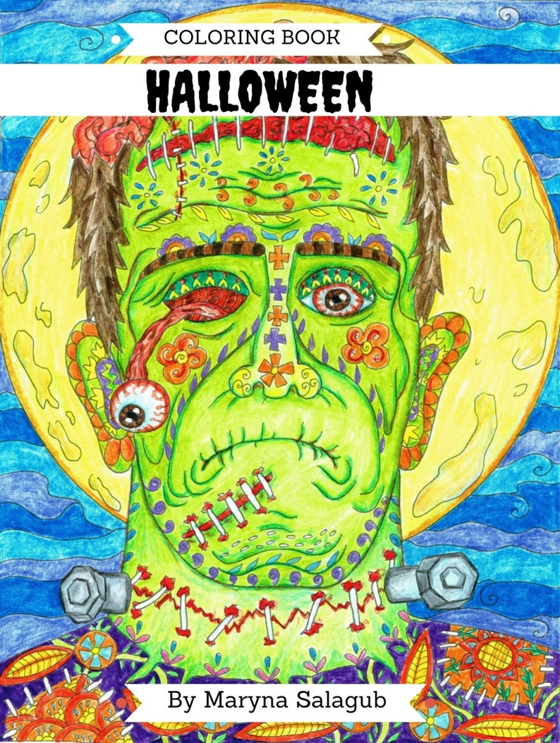 - Halloween Coloring Book 25 Pages Digital File Download Print Etsy