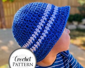 Children's Sun Hat CROCHET PATTERN - Striped Bucket Hat - Crochet Baby Sun Hat Pattern - Kid's Gilligan Hat - Beginner Crochet Baby Hat